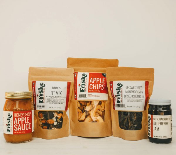 Friskes Farm Market Michigan Charlevoix no sugar added goodies gift box corporate business gifts shipped to home healthy snacks