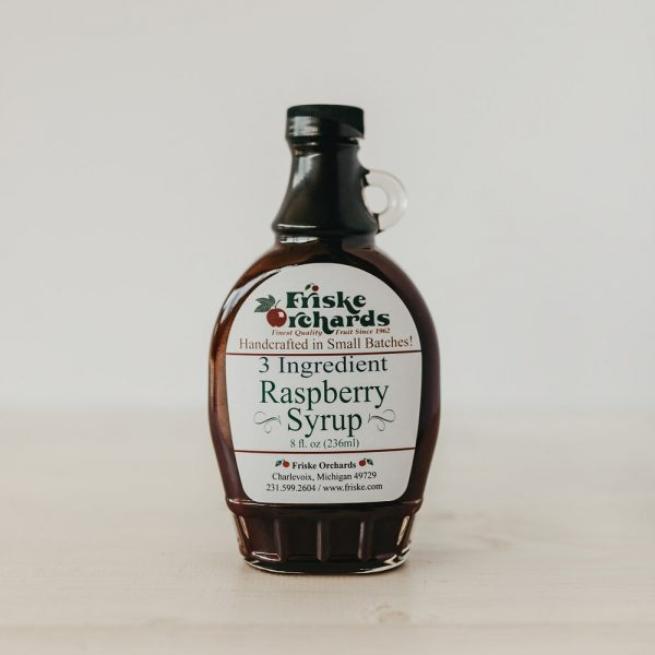 Friskes Farm Market Michigan red raspberry pancake syrup