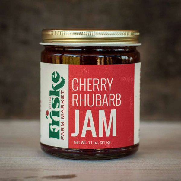 friskes farm market tart cherry rhubarb jam michigan fruit