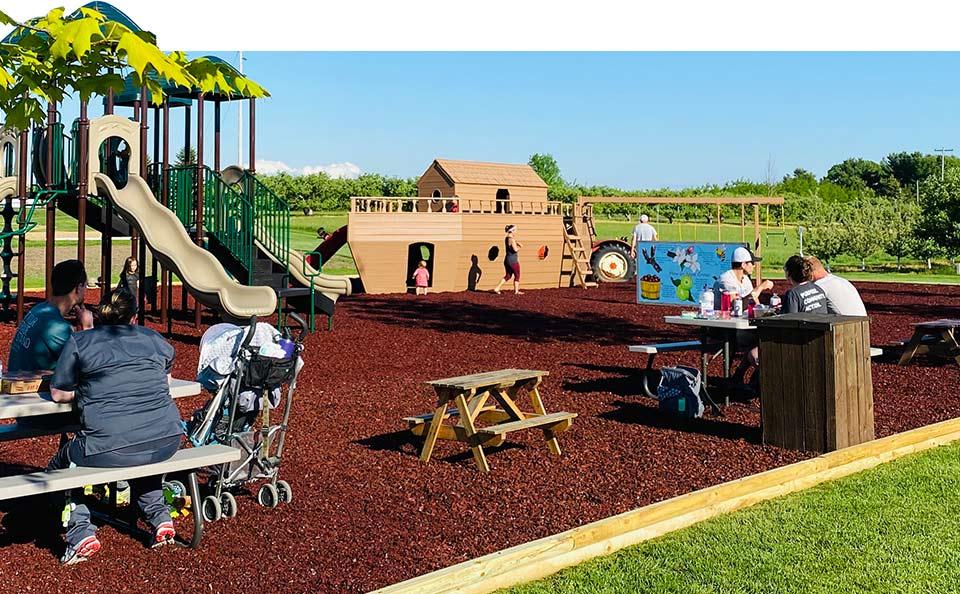 Playground at Northern Michigan Family Fun Friske Farm