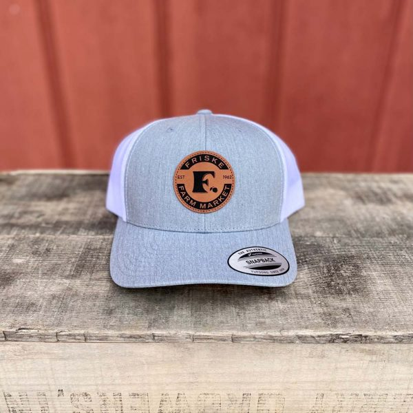 Heather Grey White Logo Hat