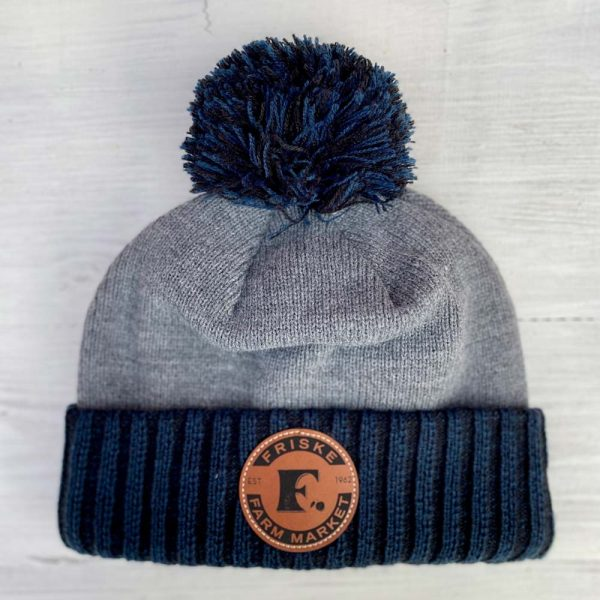 Navy/Heather Logo Beanie
