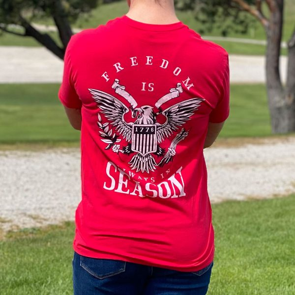 Patriotic Freedom T-Shirt Red