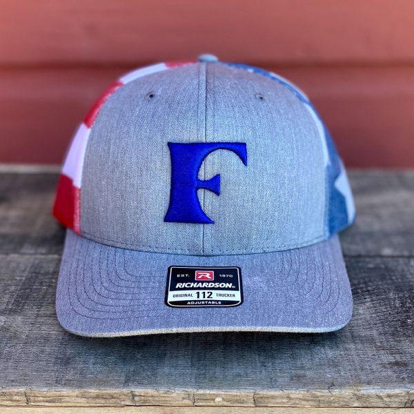 Blue Patriotic American Flag Snapback Trucker Hat