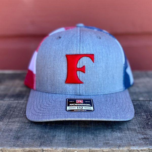 Red Patriotic American Flag Snapback Trucker Hat