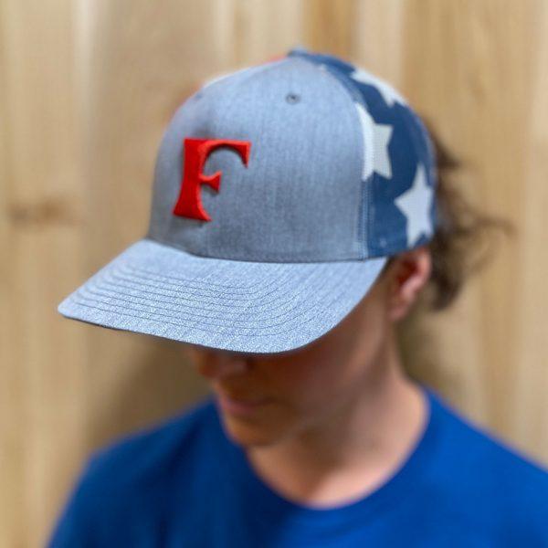 Stars and Stripes Patriotic Trucker hat