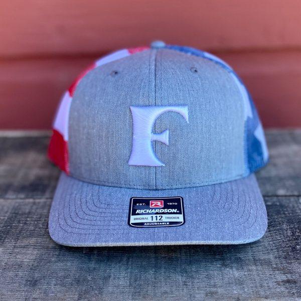 White Patriotic American Flag Snapback Trucker Hat